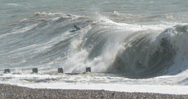 """Surfing at Birling Gap"""