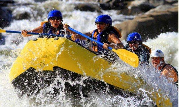 """White Water Rafting fun in Chattahoochee River"""
