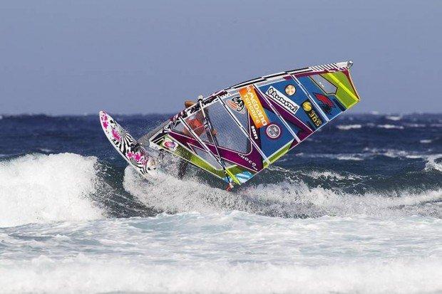 """Windsurfing at Psalidi Beach"""