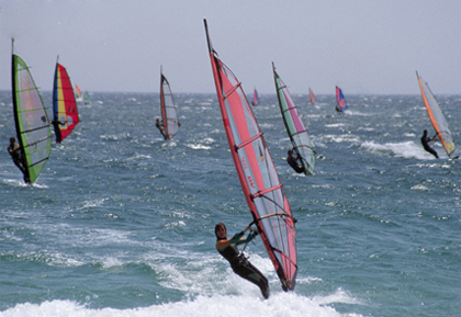 """""""Windsurfing at The Cove New Jersey"""""""