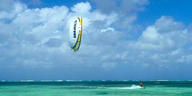 ''Kiteboarding at Bounty Bay''