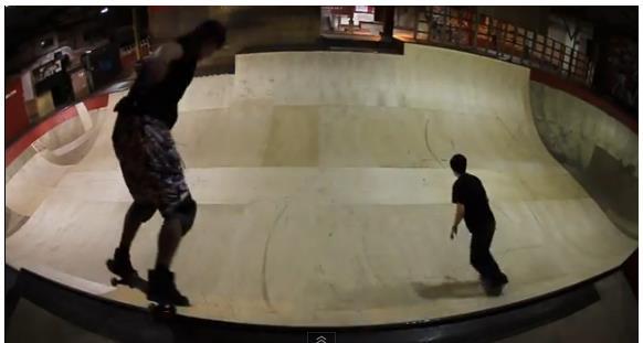''Skateboarding in Rampworx Skatepark''