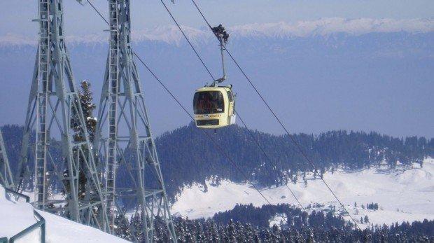 """Alpine Skiing at Gulmarg Ski Resort"""