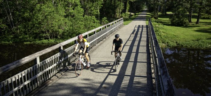 Cycling Tammany Trace Bike Trail Laplace New Orleans Louisiana Usa