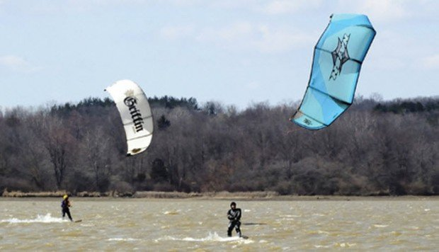 """Kiteboarding in Alum Creek"""