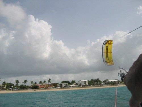 ''Kitesurfing at Punta Las Marias''