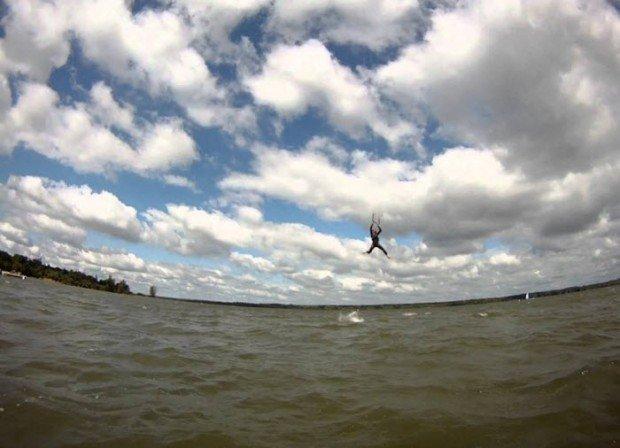 """Kitesurfing in Alum Creek State Park"""