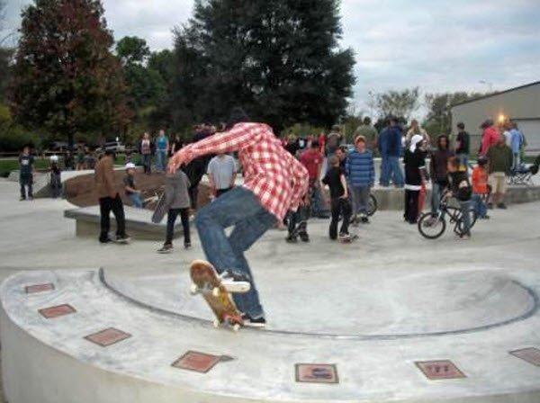"""""""Skate Boarding in Delaware Skate Park"""""""