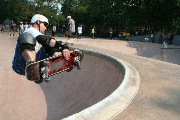 """""""Skateboarding at Owl's Head Millenium Skatepark"""""""