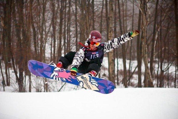 """Snowboarding at Catamount Ski Area"""