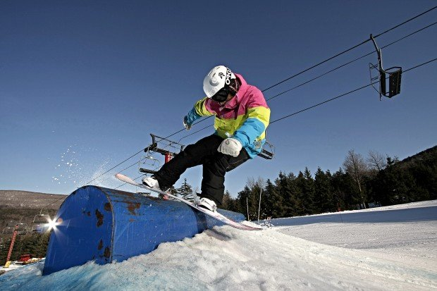 """Snowboarding at Hunter Mountain"""