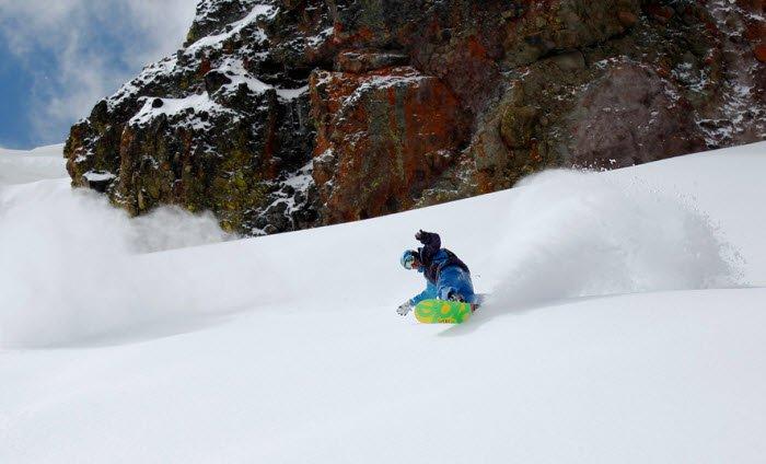 snowboarding in big creek ski area
