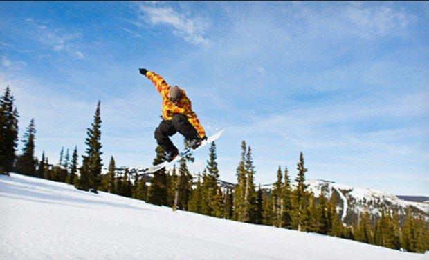 """Snowboarding in Clear Fork Ski Area"""