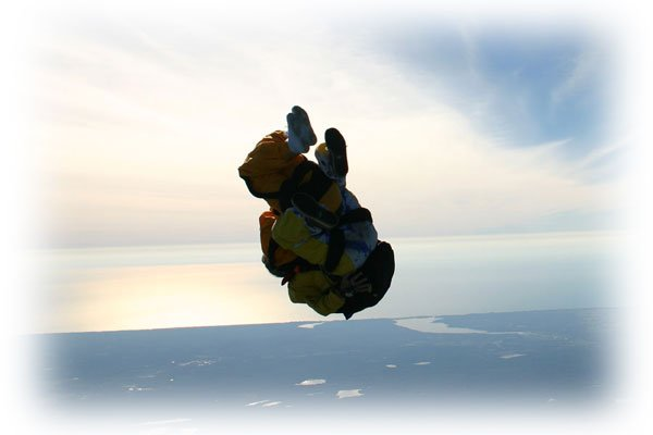 """""""Skydiving at St. Ignace"""""""