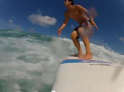 ''surfing at La Bomba''