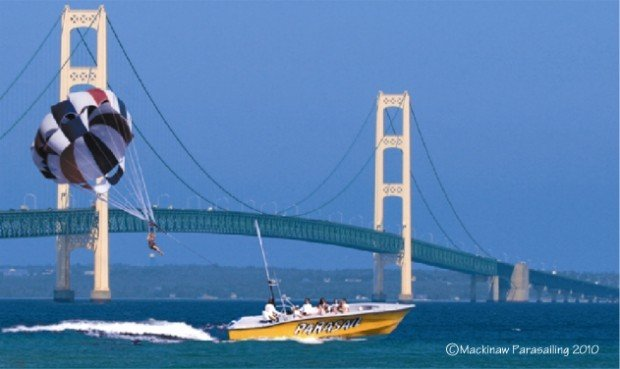 """""""Parasailing in St. Ignace"""""""