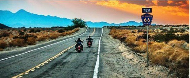"""""""Motorcycling on Route 66"""""""