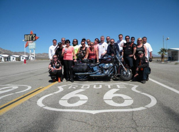 """""""Motorcyclists on Route 66"""""""
