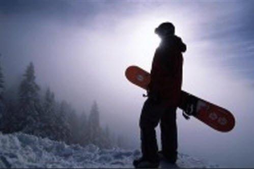 """Snowboarder in Vorob'evy Gory"""