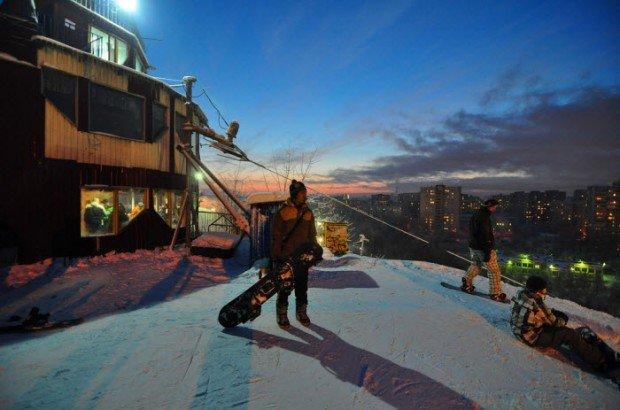 """Snowboarding in Nagornaya"""