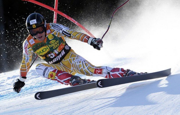 """Speed Skiing in Rosa Khutor Ski Resort"""
