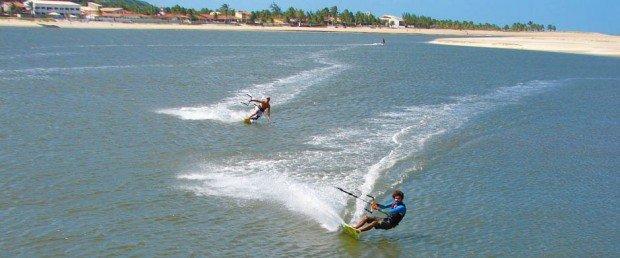 ''kiteboarding at Barra do Cunhau''