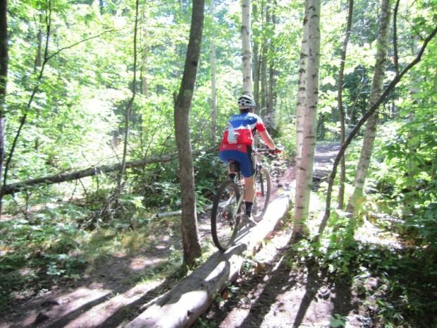 """Mountain Biking at Michigan Tech Easy Loop"""