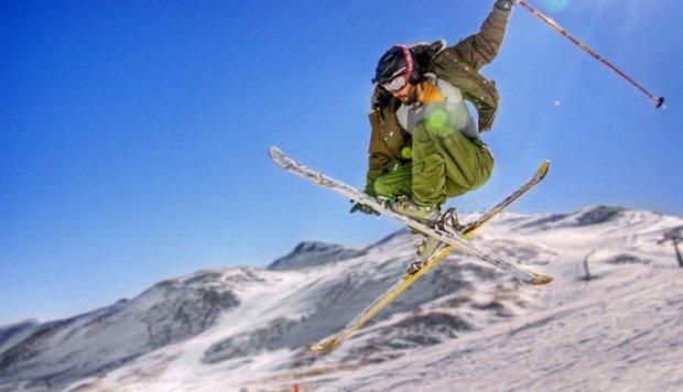 """""""Alpine Skier jumps"""""""