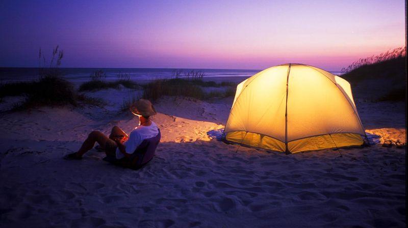 """""""Camping at Hammocks Beach State Park"""""""