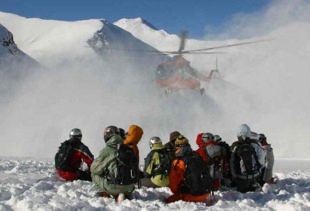 """""""Heli Skiers in Mount Elbrus"""""""