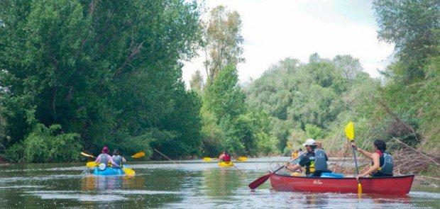 """""""Kayakers in Guadalquivir River"""""""