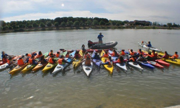 """Kayaking in Guadalquivir River"""