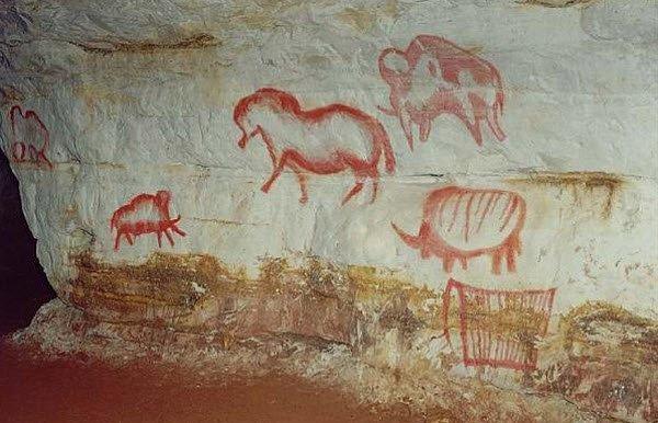 """Prehistoric art in Kapova Cave"""