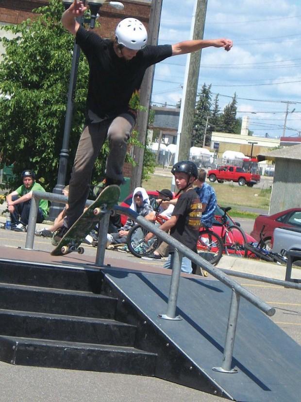 """Skateboarding at Bemidji Skatepark"""