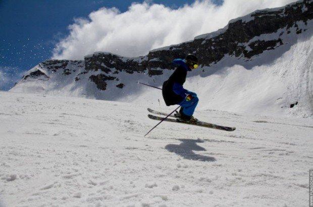 """Skier in Gornaya Karousel"""
