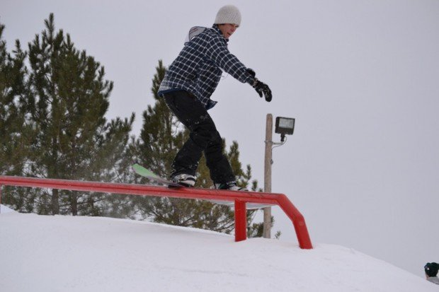 """Snowboarding at Mont Ski Gull"""