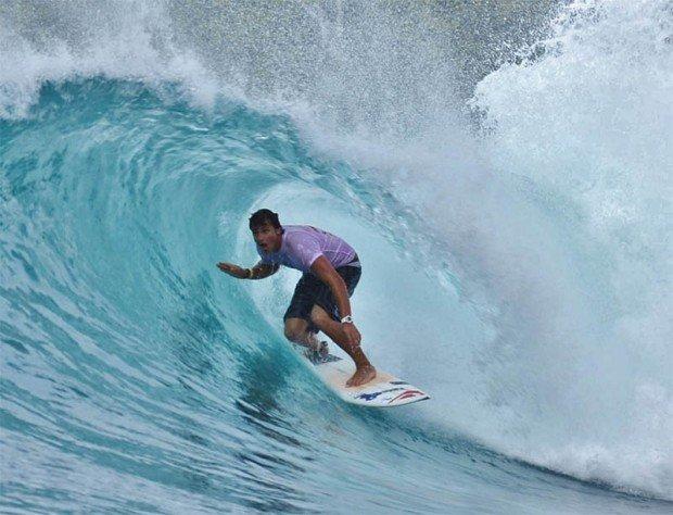 ''Surfing at Las Cuevas''