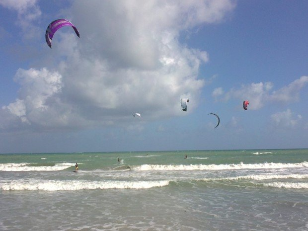 ''Kitesurfing at Lambeau''