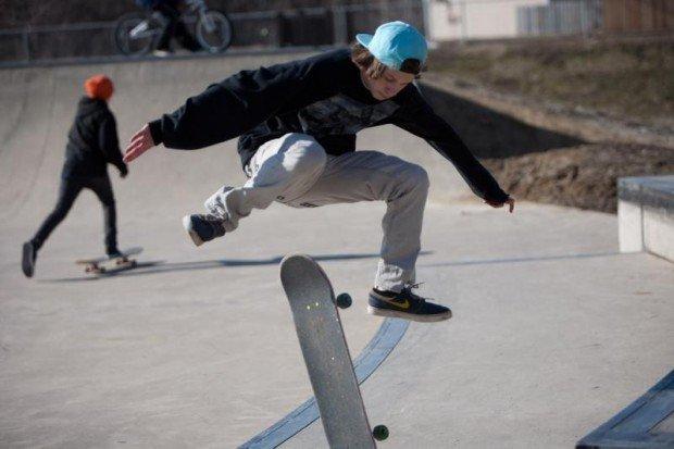 """""""Skateboarding at Four Mile Skatepark"""""""