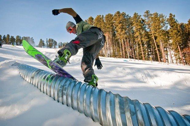 """Snowboarding at Ski Mystic"""