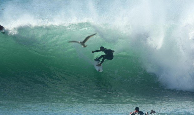 ''Surfing at Oualidia''