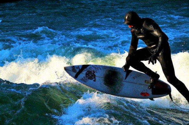 """Surfing in Pedra Branca"""