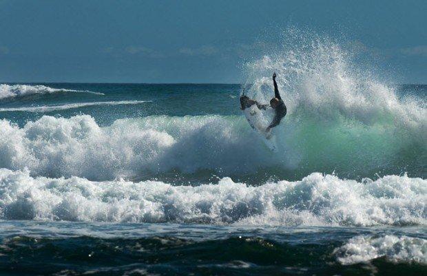 """Surfing in São Julião"""