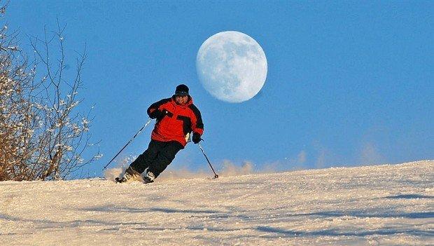 """Alpine Skiing at Bottineau Winter Park"""
