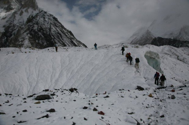 """Mountaineers in Laila Peak - Hushe Valley"""