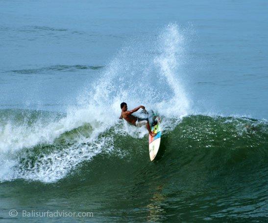 ''Surfing at Legian Beach''
