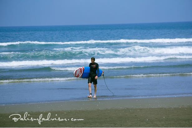 ''Surfing at Seminyak Beach''