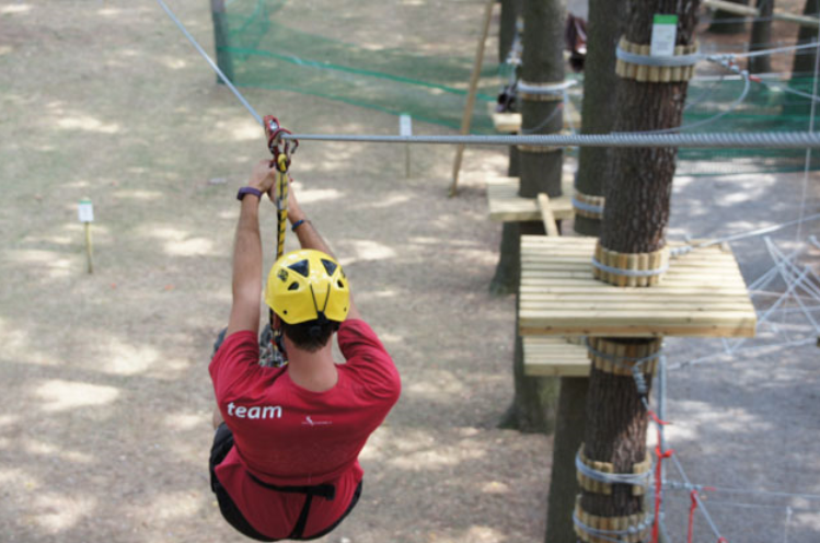 ''Ziplining in Parco Avventura-Salice Terme''