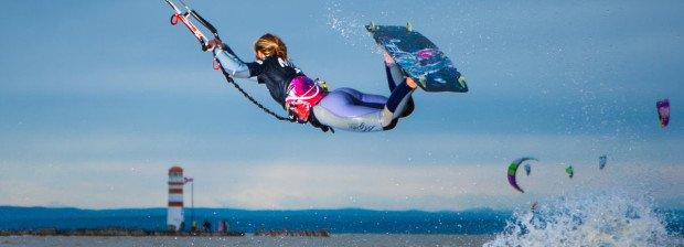"""Kiteboarding at Podersdorf"""