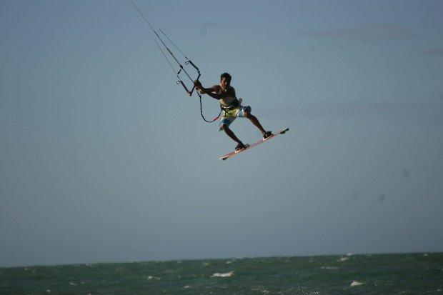 """Kitesurfing at Icarai de Amontada"""